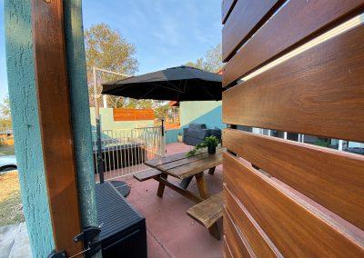 Timber Patio Screening - Blue Sky Yards Gympie