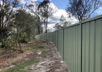 Rural Colorbond Fencing - Blue Sky Yards Gympie
