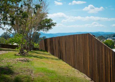 Hardwood Timber Fencing - Blue Sky Yards